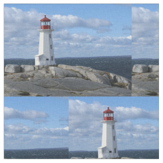 Peggy's Cove Lighthouse Fabric