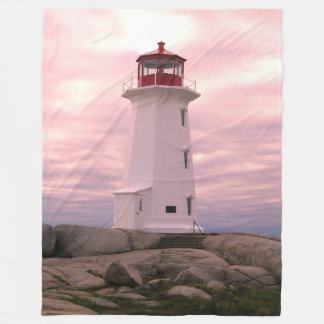 Peggy's Cove Lighthouse Fleece Blanket( 3 sizes )