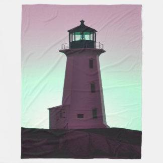 Peggy's Cove Lighthouse Fleece Blanket( 3 sizes )