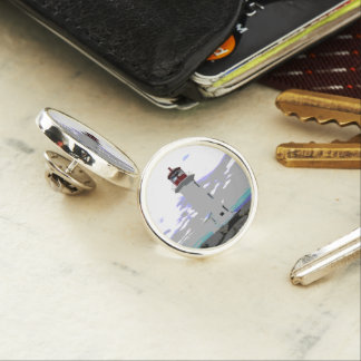 Peggy's Cove  Lighthouse Lapel Pin, Silver Plated Lapel Pin