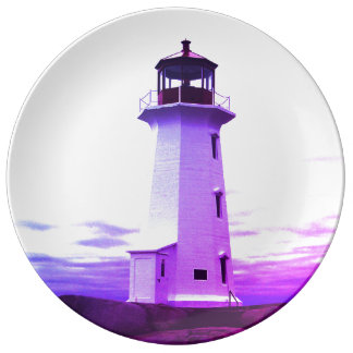 """Peggy's Cove"""" Lighthouse ""Lighthouse Route"" Plate"