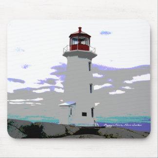 Peggy's Cove lighthouse  mouse Pad Nova Scotia