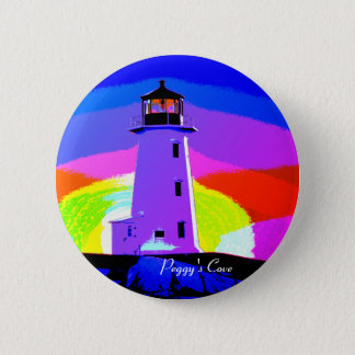 Peggy's Cove  Lighthouse N.S. Button pin Badge