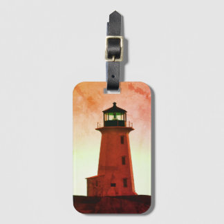 Peggy's Cove  Lighthouse Nova Scotia luggage tag