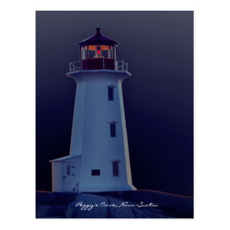 Peggy's Cove  Lighthouse  Nova Scotia post card