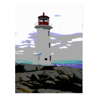 Peggy's Cove Lighthouse  Nova Scotia postcard