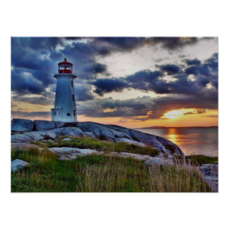 Peggys Cove Lighthouse - Nova Scotia Poster