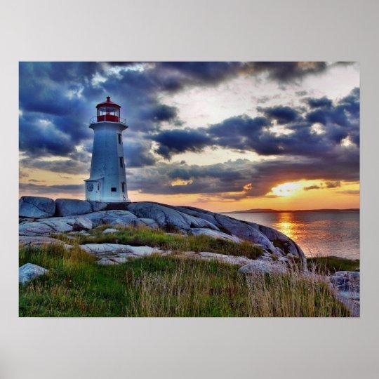 Peggys Cove Lighthouse - Nova Scotia Poster