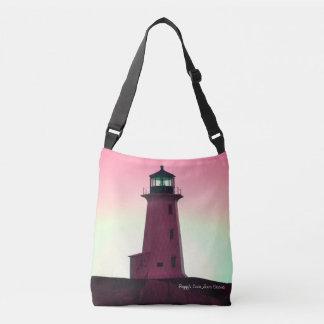 Peggy's Cove  Lighthouse Nova Scotia shoulder bag