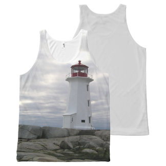 Peggy's Cove  Lighthouse Route Nova Scotia All-Over Print Tank Top