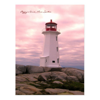 Peggy's Cove  Lighthouse Route Nova Scotia pnk Postcard