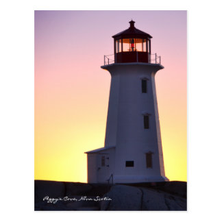 Peggy's Cove  Lighthouse Route Nova Scotia Postcard