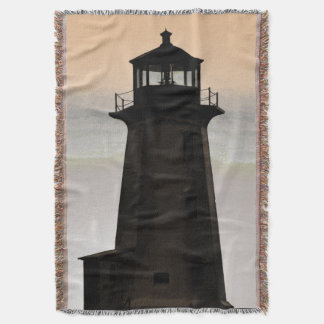Peggy's Cove  Lighthouse  Route Throw Blanket