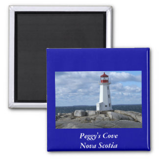 Peggy's Cove Lighthouse Square Magnet