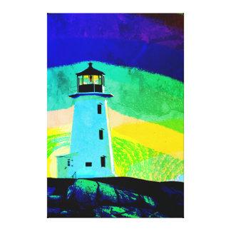 Peggy's Cove Nova Scotia Canada Custom Canvas blue