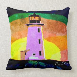 """""""Peggy's Cove Nova Scotia""""""""Lighthouse pillow"""