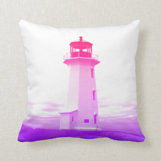 """Peggy's Cove Nova Scotia""""Lighthouse pink Cushion"
