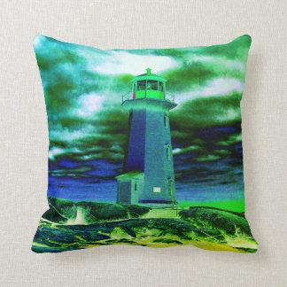 """""""Peggy's Cove Nova Scotia""""""""Lighthouse Route"""" Cushion"""