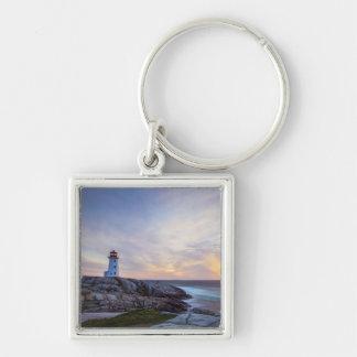 Peggy'S Cove | Nova Scotia Silver-Colored Square Key Ring