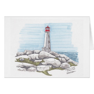 Peggy's Cove, Nova Scotia sketch Card