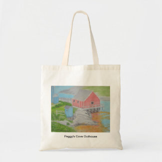 Peggy's Cove Outhouse Budget Tote Bag