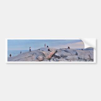 Peggys Cove Rocks Bumper Sticker