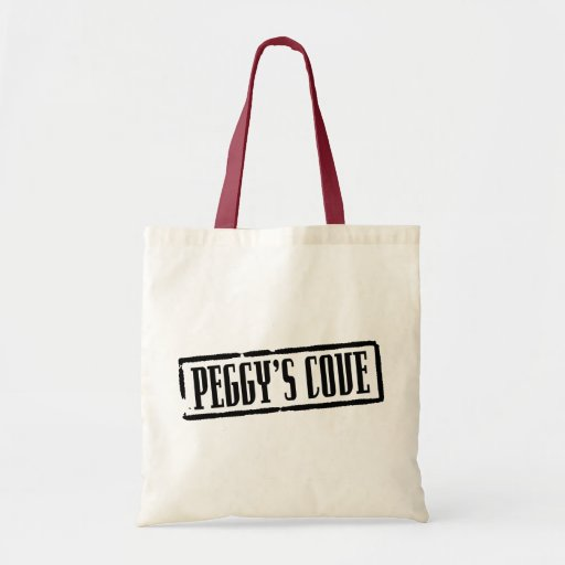 Peggy's Cove Title Tote Bag