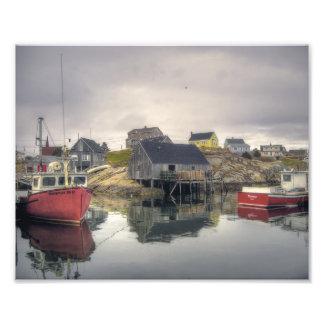 Peggys Cove Village in April Photo Print