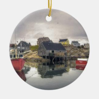 Peggys Cove Village Nova Scotia Canada Christmas Ornament