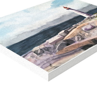 PEGGY'S COVE , - watercolor, wrapped canvas print