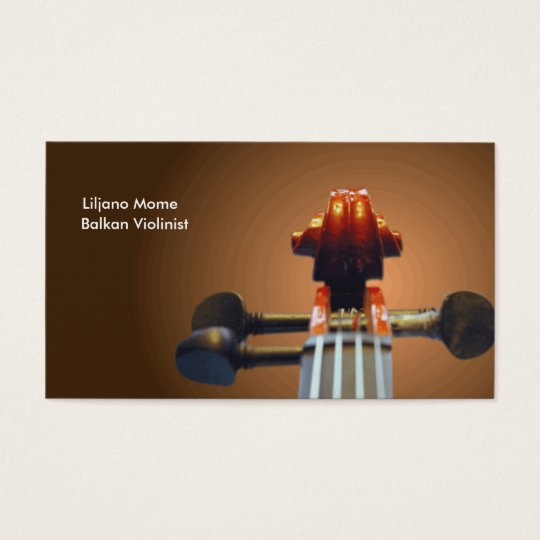 Pegs and Scroll Violin Business Cards Template