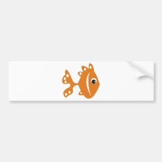 peixe laranj bumper sticker