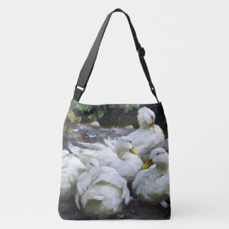 Pekin Ducks Wildlife Animals River Tote Bag