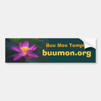 pekinensis rubra Buu Mon Temple, buumo... Bumper Sticker