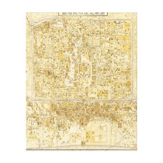 Peking, ChinaPanoramic MapPeking, China Canvas Print