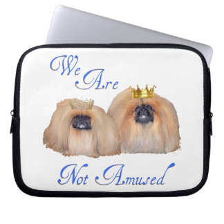 Pekingese Are Not Amused Computer Sleeves