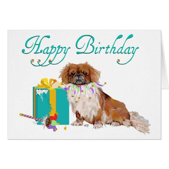 Pekingese Birthday Card