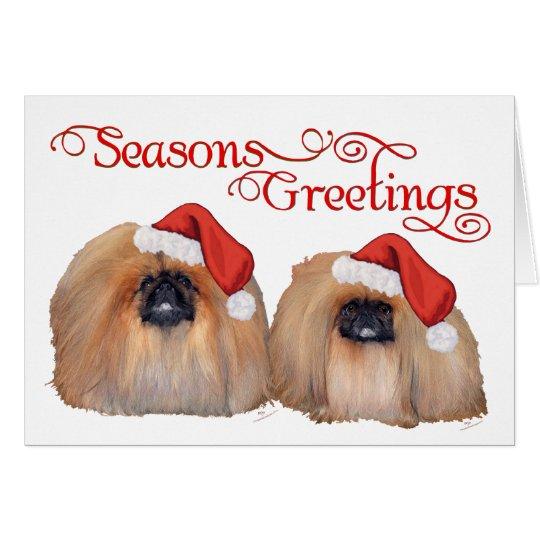 Pekingese Celebrate Christmas Card