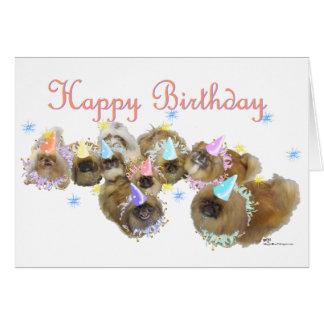 Pekingese Celebration Birthday Card