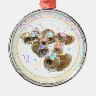 Pekingese Celebration Group Christmas Ornament