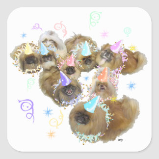 Pekingese Celebration Group Square Sticker