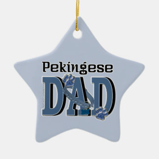 Pekingese DAD Ceramic Star Decoration