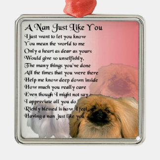 Pekingese Dog -  Nan Poem Christmas Ornament