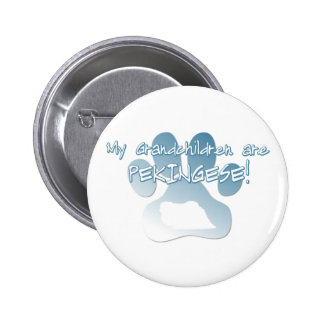 Pekingese Grandchildren Button