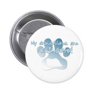 Pekingese Grandchildren Button
