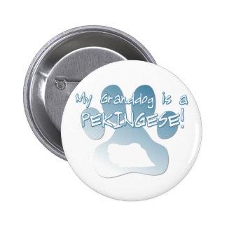 Pekingese Granddog Button