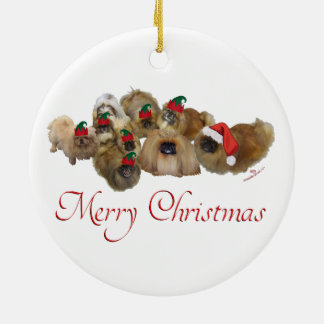 Pekingese Group Christmas Christmas Ornament