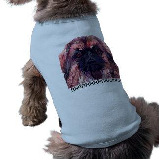 Pekingese in Bright Colors Dog Sweater Sleeveless Dog Shirt