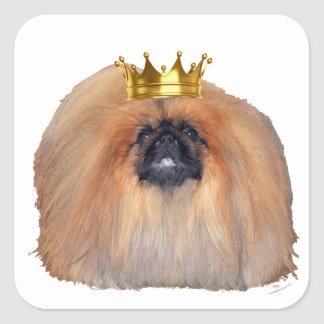 Pekingese King (Customize if you Wish!) Square Sticker