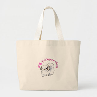 PEKINGESE MOM LARGE TOTE BAG